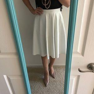 White faux leather skirt Zara